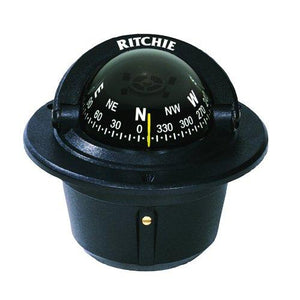 Ritchie Explorer Flush Mount Compass, Black (F-50) - onlinesportsmall