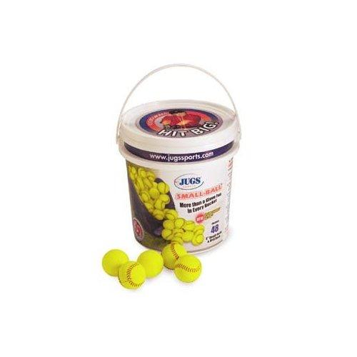 Jugs Vision-Enhanced Yellow Small Balls - Bucket Of 4 Dozen - onlinesportsmall