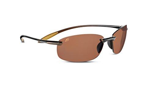 Serengeti Nuvino Polar Sunglasses,Shiny Brown with Drivers Lenses - onlinesportsmall