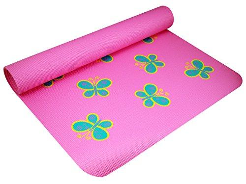 YogaDirect Fun Yoga Mat For Kids - Butterfly - onlinesportsmall