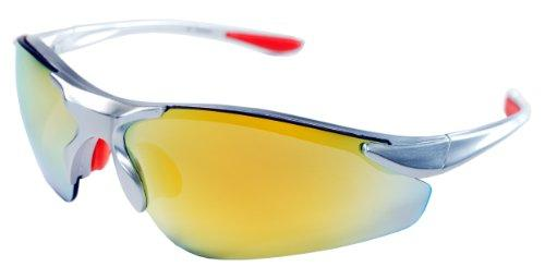 JiMarti TR15 Sunglasses for Golf, Fishing, Cycling-Unbreakable (Silver & Orange revo) - onlinesportsmall