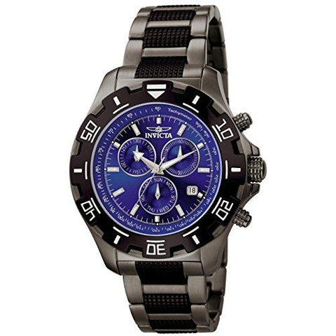 Invicta Men's 6411 Python Collection Chronograph Gun Metal Stainless Steel Watch - onlinesportsmall