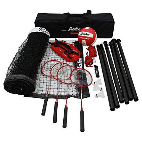 Baden Champions Series Outdoor Combo Badminton/Volleyball Set - onlinesportsmall