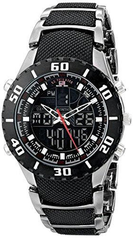 U.S. Polo Assn. Sport Men's US8163EXL Analog-Digital Extra Long Gunmetal Bracelet Watch - onlinesportsmall
