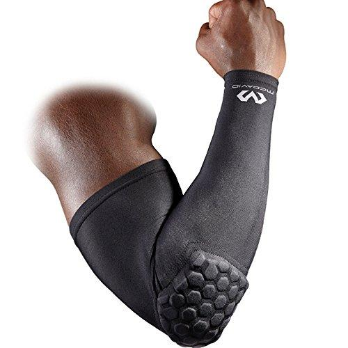 McDavid 6500 HexPad Shooter Arm Sleeve, One Each Fits either Arm (Black, Large) - onlinesportsmall