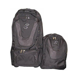Combat Baseball Coache\'s Choice Roller Backpack Black / Black - onlinesportsmall