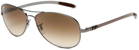 Ray-Ban RB8301 - GUNMETAL Frame CRYSTAL BROWN GRADIENT Lenses 59mm Non-Polarized - onlinesportsmall