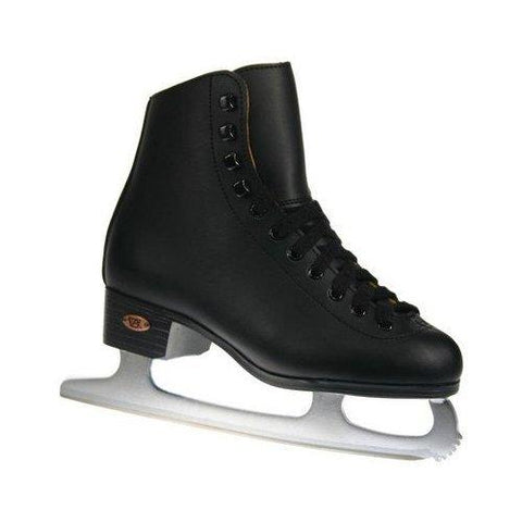 Riedell Model 10 Boys Ice Skates, Black, Size 1 - onlinesportsmall