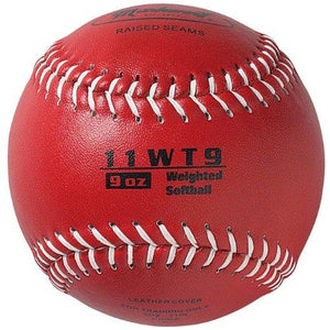 Markwort Color Coded Weighted 11-Inch Softball (9-Ounce, Red) - onlinesportsmall