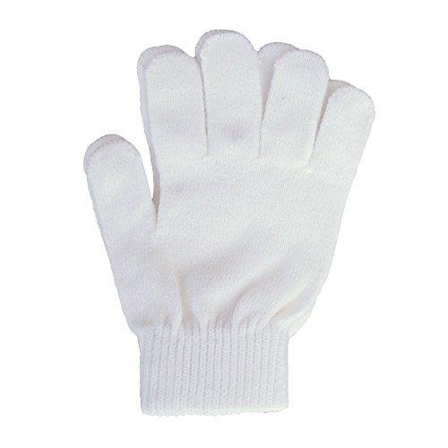 A&R Sports Knit Gloves, White, One Size - onlinesportsmall