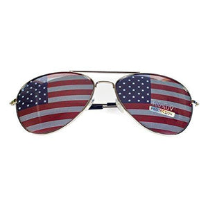 Goson American Flag USA Classic Metal Aviator Sunglasses - onlinesportsmall