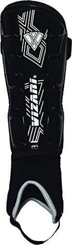 Vizari Malaga Shin Guard, Black/White, XX-Small - onlinesportsmall