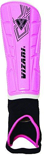 Vizari Malaga Shin Guard, Pink/Black, Small - onlinesportsmall