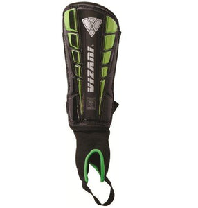Vizari Sport Preston Shin Guard, Black/Green, Small - onlinesportsmall