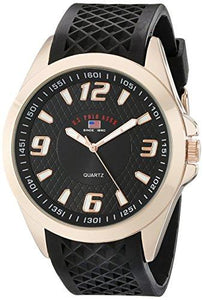 U.S. Polo Assn. Sport Men's US9122 Black Textured Strap Analog Watch - onlinesportsmall
