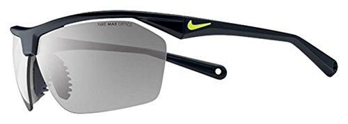 Nike Tailwind 12 Sunglasses, Black/Voltage, Grey with Silver Flash Lens - onlinesportsmall
