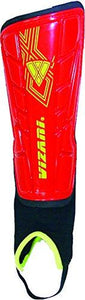 Vizari Malaga Shin Guard, Red/Yellow, XX-Small - onlinesportsmall