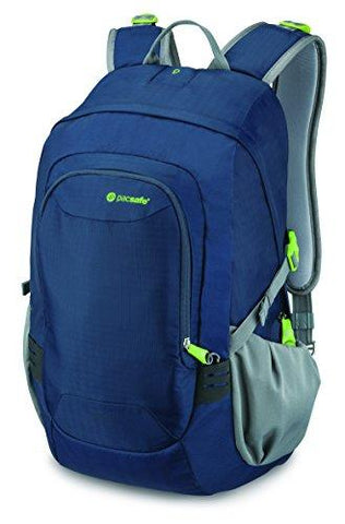 Pacsafe Venturesafe GII 25 Liter Anti Theft Travel Backpack / Daypack (Navy Blue) - onlinesportsmall