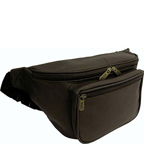 AmeriLeather Jumbo Size Leather Fanny Pack (Dark Brown) - onlinesportsmall
