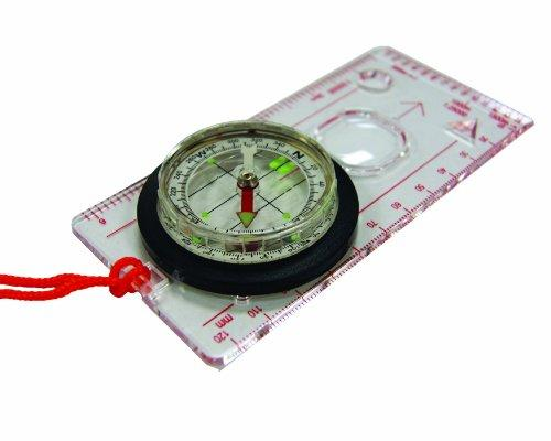 UST Deluxe Map Compass with Raised Base Plate and Swivel Bezel for Hiking, Camping, Backpacking, Emergency and Outdoor Survival - onlinesportsmall
