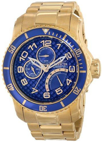 Invicta Men's 15342 Pro Diver Analog Display Japanese Quartz Gold Watch - onlinesportsmall