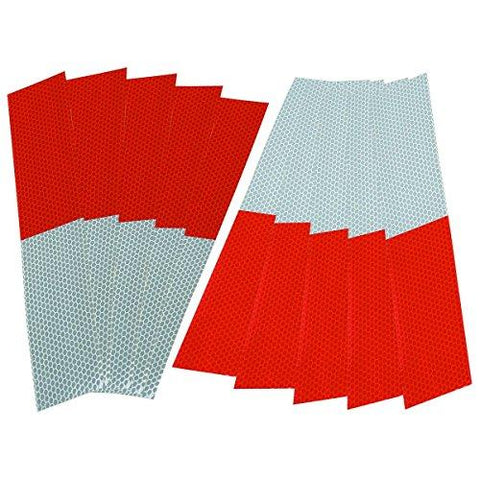 HFT 61392 Reflective Strips, Red/White, 10 Piece - onlinesportsmall