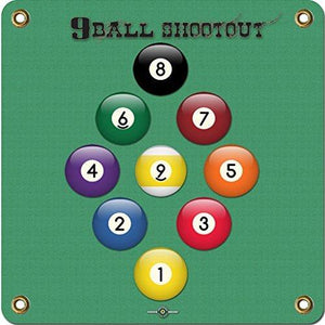 Arrowmat Foam Rubber 9 Ball Shootout Target Face, X-Large/34 x 34-Inch - onlinesportsmall