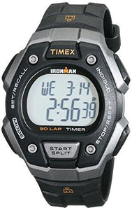 Timex Men's T5K821 Ironman Classic 30 Black/Orange Resin Strap Watch - onlinesportsmall