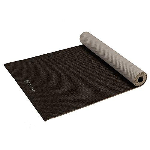 Gaiam Yoga Mat Premium Solid Color Reversible Non Slip Exercise & Fitness Mat for All Types of Yoga - onlinesportsmall