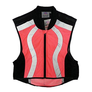 3C Outdoor Night Vision Safety Neon Pink Reflective Zip Front Body Vest (X-Large) - onlinesportsmall