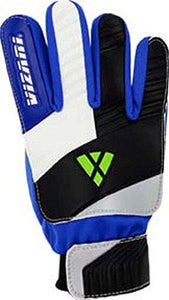 Vizari Junior Keeper Glove, Blue/White/Black, Size 5 - onlinesportsmall
