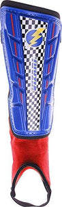 Vizari Prix Shin Guard, Blue/Red, Size XX-Small - onlinesportsmall