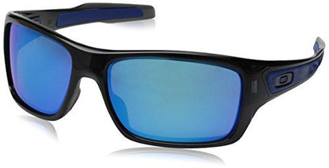 Oakley Men\'s Turbine OO9263-05 Iridium Rectangular Sunglasses, Black Ink, 65 mm - onlinesportsmall