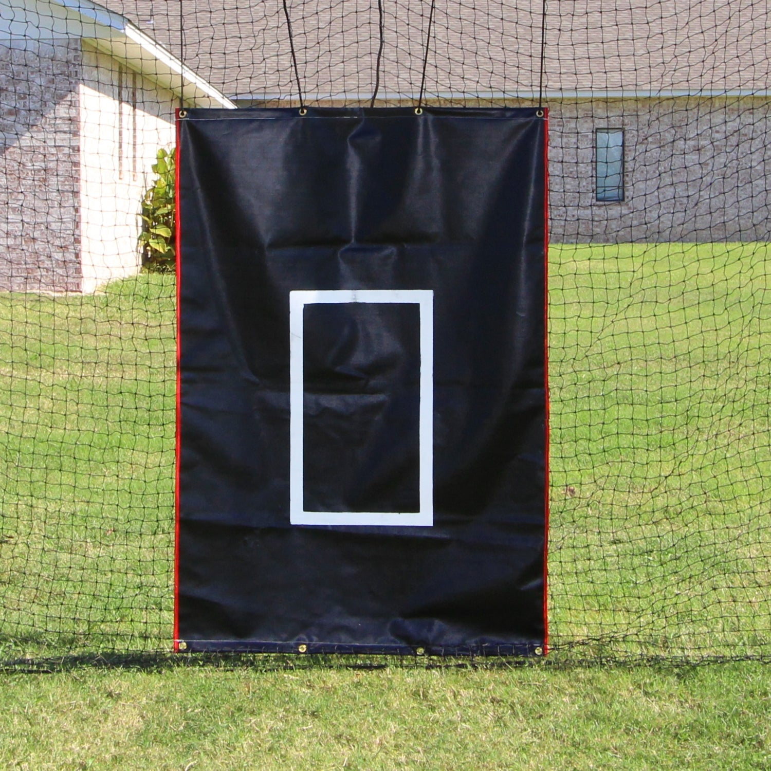 4x6 vinyl backstop with catchers image - onlinesportsmall