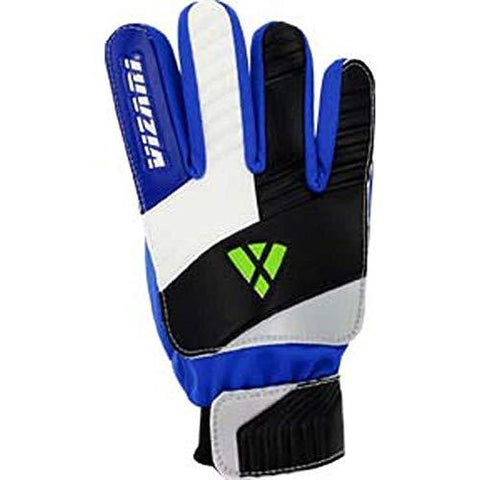 Vizari Junior Keeper Glove, Blue/White/Black, Size 9 - onlinesportsmall
