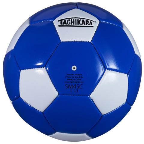 Tachikara SM4SC Recreational Soccer Ball (Size 4, Blue and White)