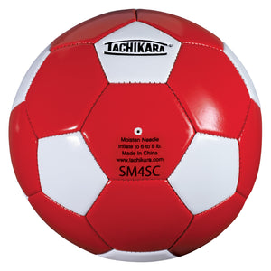 Tachikara SM4SC Recreational Soccer Ball (Size 4, Red and White)
