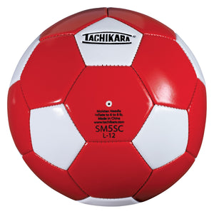 Tachikara SM5SC Recreational Soccer Ball (Size 5, Red and White)