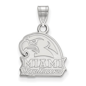 Sterling Silver LogoArt Miami University Small Pendant - onlinesportsmall
