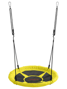 Swingan - 37.5 Super Fun Nest Swing With Adjustable Ropes - Solid Fabric Seat Design - Green - onlinesportsmall