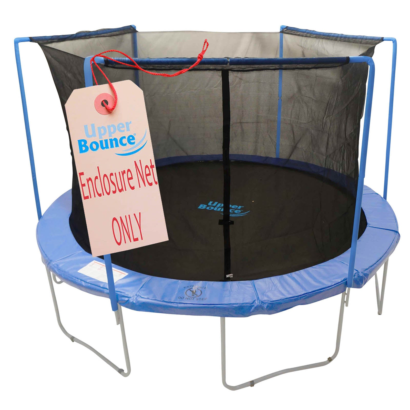 Trampoline Replacement Enclosure Safety Net, Fits For 7 FT. Round Frames, Using 3 Arches, with Sleeves on top -NET ONLY - onlinesportsmall