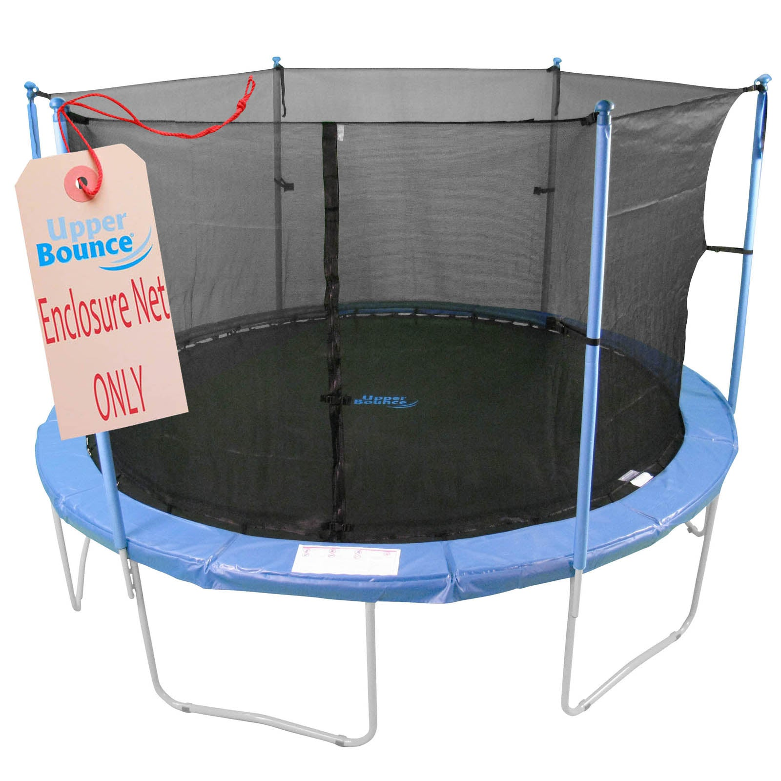 Trampoline Replacement Enclosure Net, Fits For 10 FT. Round Frames, With Adjustable Straps, Using 4 Poles or 2 Arches - onlinesportsmall