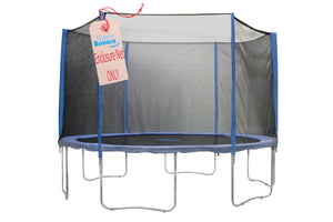 Trampoline Replacement Enclosure Safety Net, Fits For 12 FT. Round Frames, Using 2 Arches, with Sleeves on top -NET ONLY - onlinesportsmall