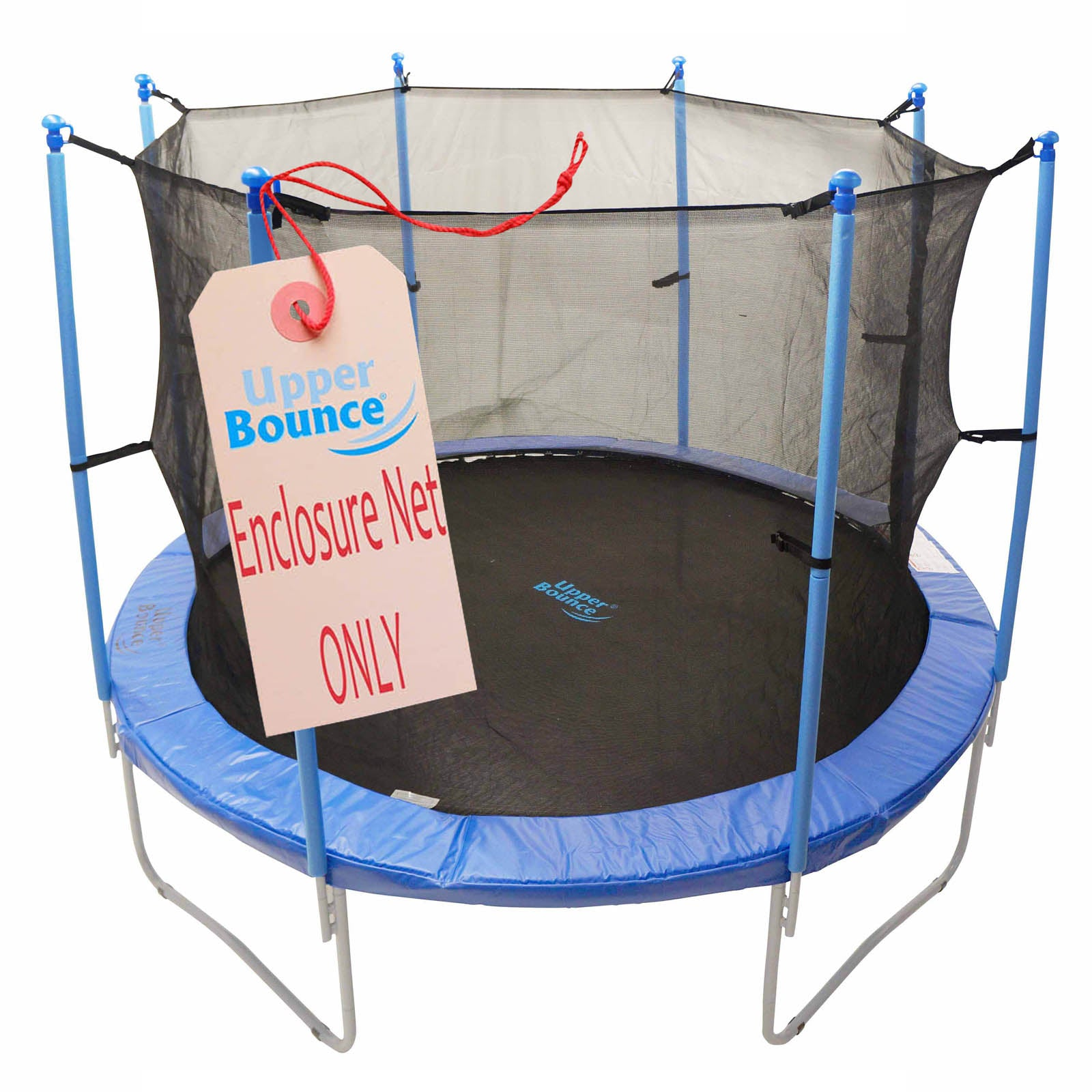 Trampoline Replacement Enclosure Net, Fits For 15 FT. Round Frames, With Adjustable Straps, Using 8 Poles or 4 Arches - onlinesportsmall