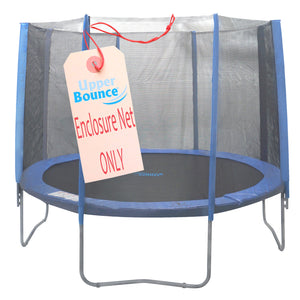 Trampoline Replacement Net, Fits for 13 FT. Round Frames, Using 6 Straight Poles, Installs Outside of Frame -NET ONLY - onlinesportsmall