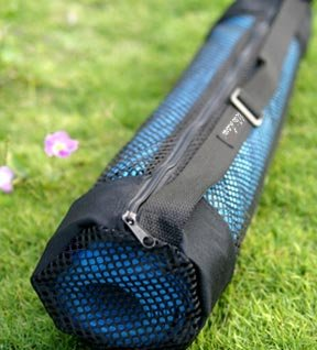 Sports Tote, Black mesh (Lg - for Yoga & Pilates Mat) - onlinesportsmall