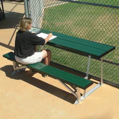 7.5' Scorer's Table With Bench-Natural - onlinesportsmall