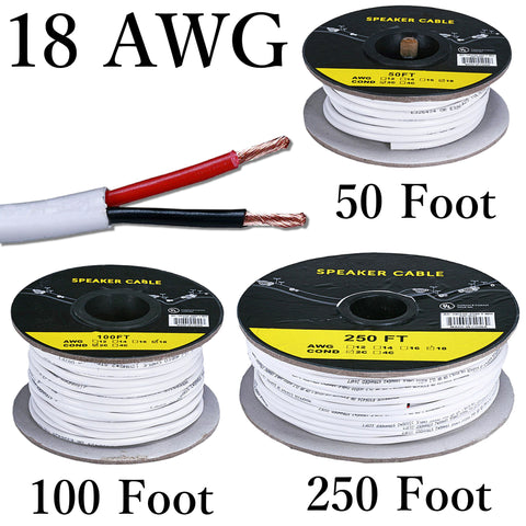 18 awg solid copper stranded speaker wire 2 conductor cable cl2 18 awg solid copper stranded speaker wire 2 conductor loudspeaker cable cl2 keyboard keysfo Gallery