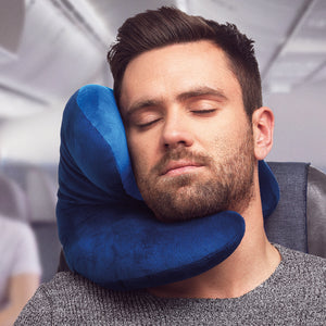 J-pillow travel pillow - Two-tone blue