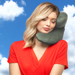 J-pillow travel pillow Silver gray